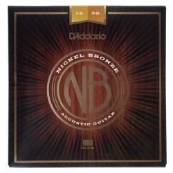 Cuerdas Guitarra Acústica D´Addario Nickel Bronze 12-56.