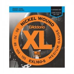 Cuerdas D´Addario p/ Bajo Electrico 5 cdas 50-135 XL