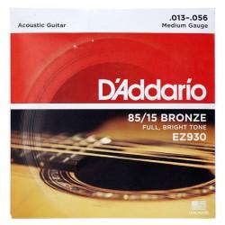 Cuerdas D´Addario 85/15 Bronze 13-56 p/ Guitarra Acústica.