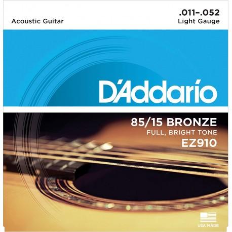 Cuerdas D´Addario 85/15 Bronze 11-52 p/ Guitarra Acústica.