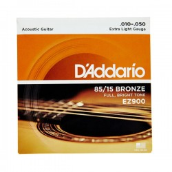 Cuerdas D´Addario 85/15 Bronze 10-50 p/ Guitarra Acústica.