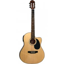 Guitarra Electroacústica La Sevillana UN-3CEQ STEEL
