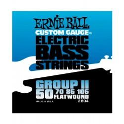 CUERDAS ERNIE BALL FLATWOUND GROUP II P/BAJO ELECTRICO 4 CUERDAS 50-105