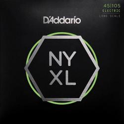 CUERDAS D´ADDARIO NYXL P/BAJO ELECTRICO 4 CUERDAS 45-105 XL
