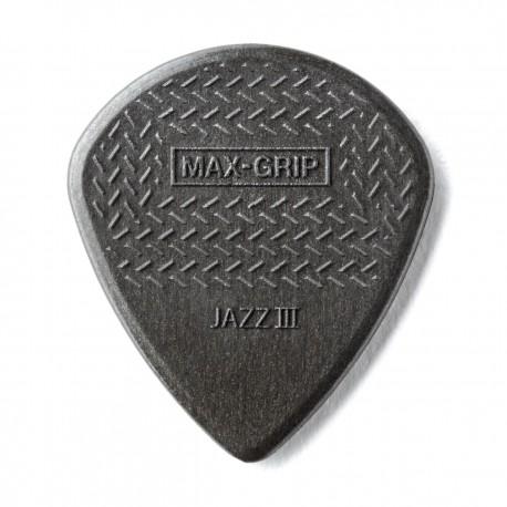 ESPIGA DUNLOP JAZZ III MAX GRIP GRIS FIBRA DE CARBON