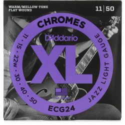 CUERDAS D´ADDARIO ECG24 CHROME JAZZ LIGHT GAUGE 11-50