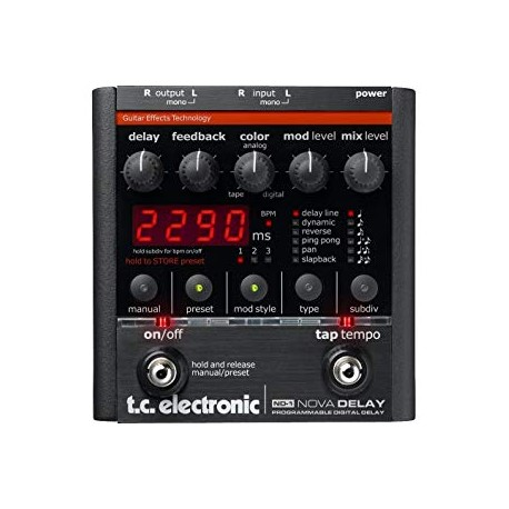 PEDAL  T.C. ELECTRONIC  P/ GUITARRA ELECTRICA (DELAY)