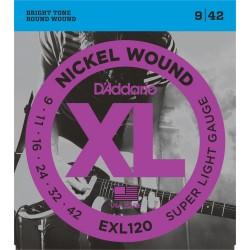 Cuerdas p/ Guitarra Electrica D´Addario 9-42 XL