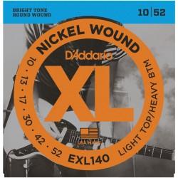 Cuerdas p/ Guitarra Electrica D´Addario 10-52 XL
