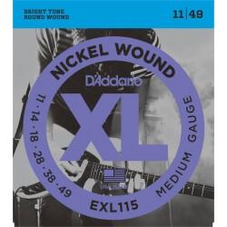 Cuerdas p/ Guitarra Electrica D´Addario 11-49 XL